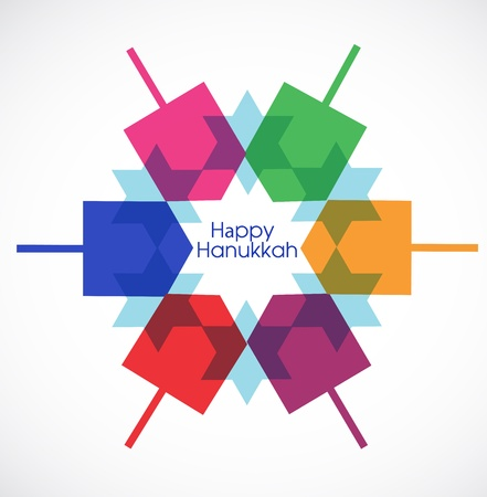 jewish new year: vector illustration of Hanukkah