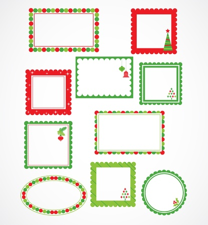 Christmas frames and labales Stock Vector - 15996020