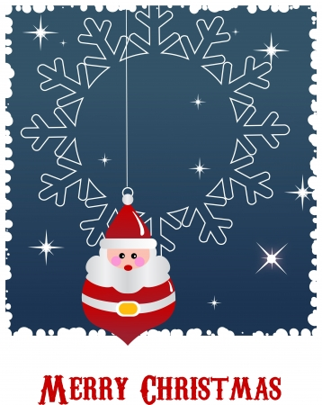 Christmas background with santa and snow Vector