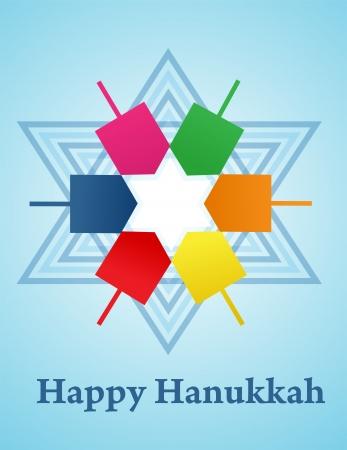 candelabrum: vector illustration of Hanukkah