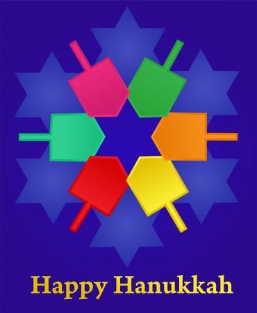 hanukkah: vector illustration of Hanukkah