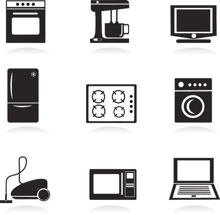 Home electrical appliances set Vector