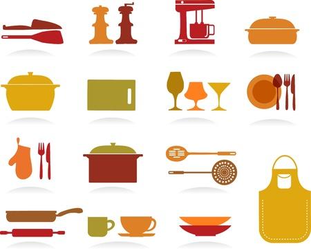 Leuke Keuken Collectie Vector Illustratie