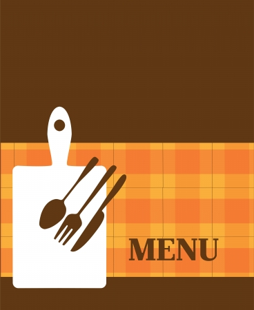 menu template with kitchen elements Vector