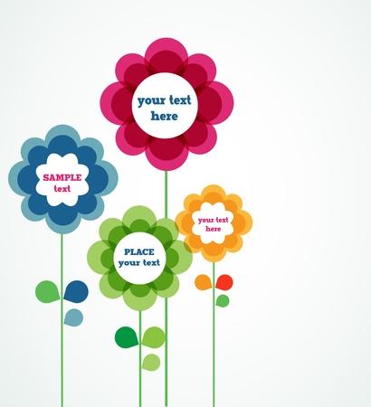 offerta speciale: fiori con segni di vendita Vettoriali