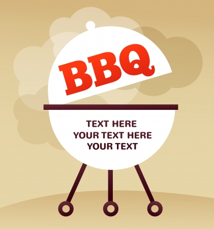 pernil de cerdo: BBQ Party invitaci�n Vectores