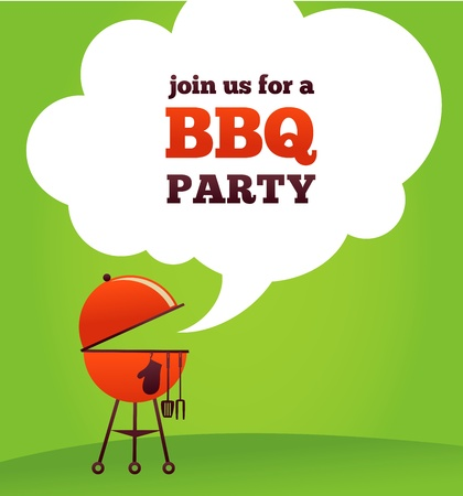 bbq picnic: BBQ Party invitation