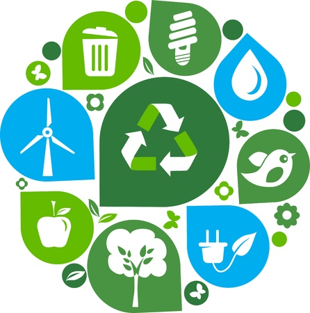 save the environment: recycle icons