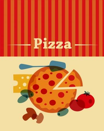 template of Pizza menu Illustration