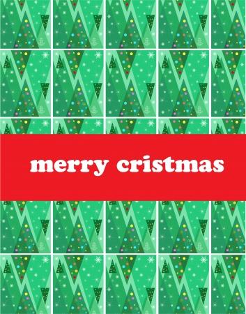 background of seasonal christmas trees, christmas card Vector