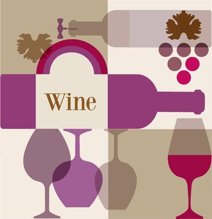 wine trade: wine label or wine menu bar template design