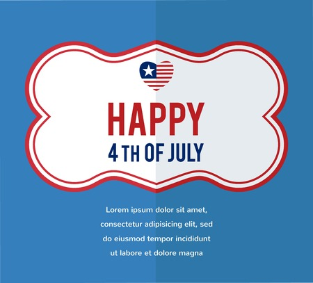 HAPPY independence day of America. vector illustration Vector