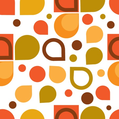 Abstract Retro Geometric seamless pattern. Vector Illustration  Vector
