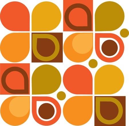 imaginative: Abstract Retro Geometric seamless pattern. Vector Illustration