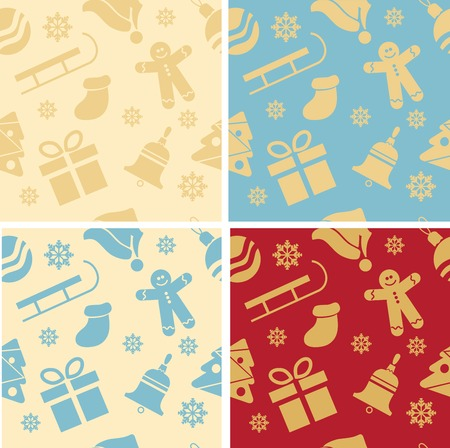 Christmas background, seamless tiling, great  choice for wrapping paper pattern Vector