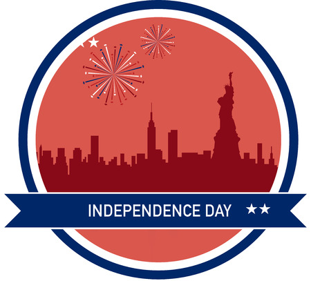 Independence day of America, New Yor City skyline Vector