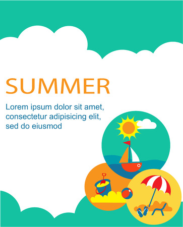SUMMER TIME. summer holiday card with place for text Vector