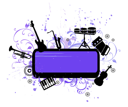 sonata: abstract musical background with music  instruments  vector illuatration