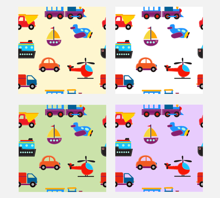 cute baby: seamless pattern with cute baby transport  toys