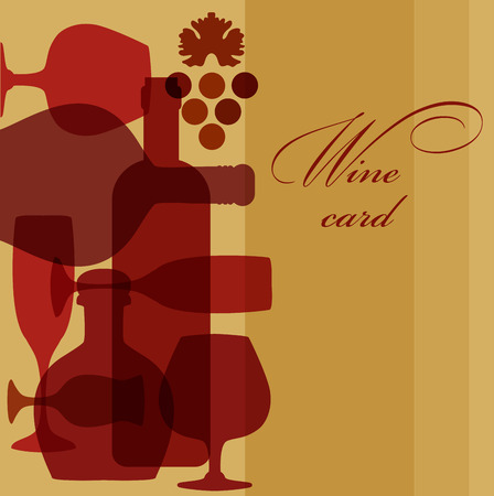 vermouth: Illustration of wine  bottles and glasses. Wine list design template. wine card.