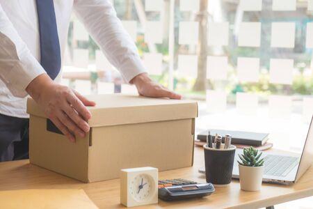 Trabajadores, oficina, almacenamiento, escritorio, trabajo, mudanza o mudanza, renuncian, despiden.