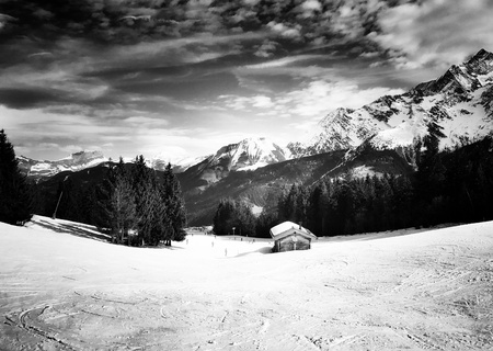 black: Mountain hut, Contamines Mont-joie
