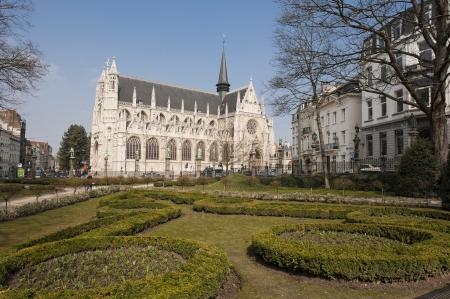 Place du Petit Sablon in Brussels, Belgium. photo