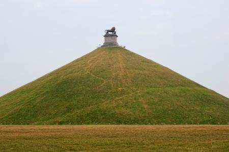 belgique: Lions Mound Monument Stock Photo
