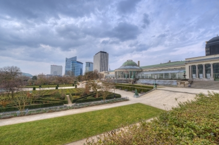 View of the botanical garden in Brussel, Belgium photo