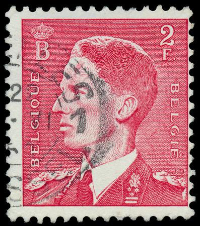 baudouin: BELGIUM - CIRCA 1952: A stamp printed in Belgium, shows Baudouin I of Belgium, circa 1952