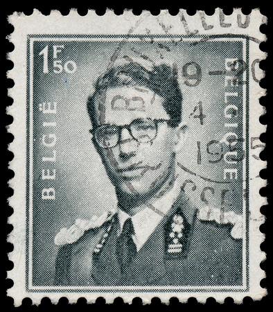 baudouin: BELGIUM - CIRCA 1953: A stamp printed in Belgium shows portrait King Baudouin (1930-1993), circa 1953  Editorial