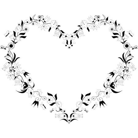 Spring time inspired heart shape Vector
