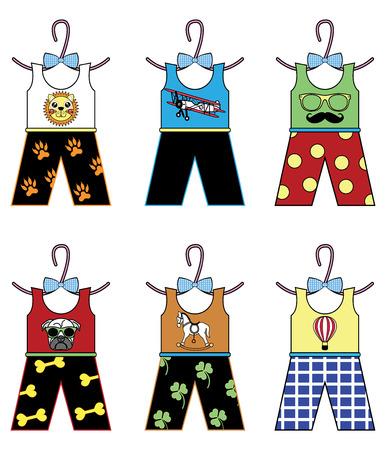 schommelpaard: Jongens garderobe tops en broeken met elementen hobbelpaard, luchtballon, pug, botten, snor en hipsters glazen, vlinderdas, leeuw, leeuw voeten merken, vliegtuig