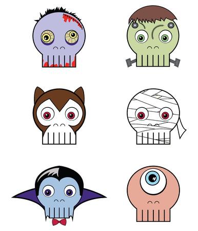 Monster  skulls Vector
