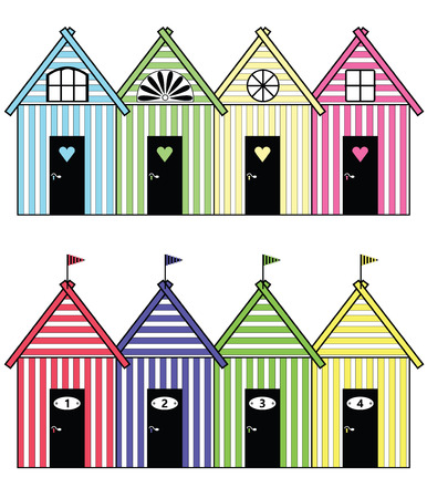 Beach storage houses
