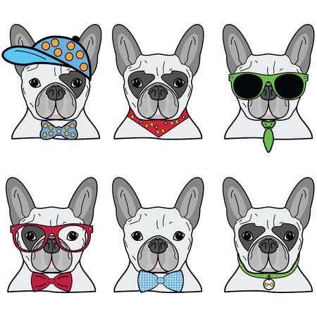 french bulldog: French bulldog icons II