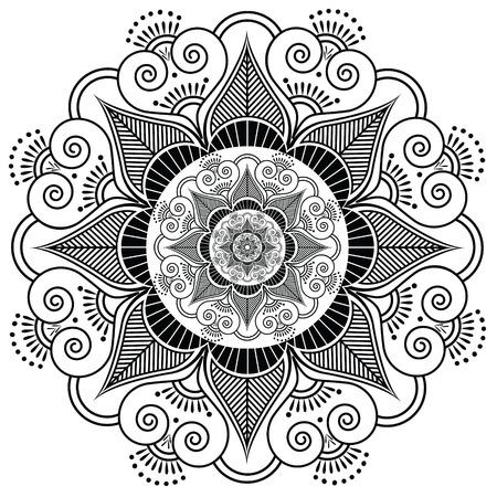 henna tattoo: Indian henna tattoo flower pattern