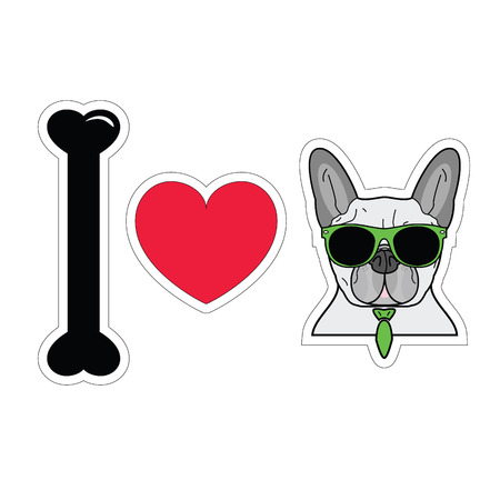 tacky: I love french bulldog with tie and sunglasses