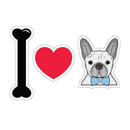 tacky: I love french bulldog with tie bow