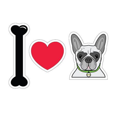 tacky: I love french bulldog with collar