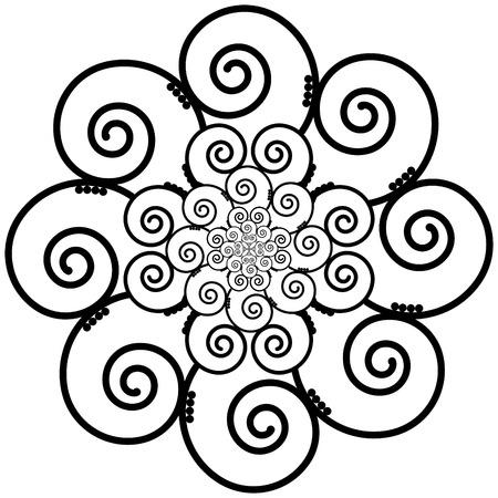 henna tattoo: Indian Henna Tattoo Swirly  flower Inspired Illustration