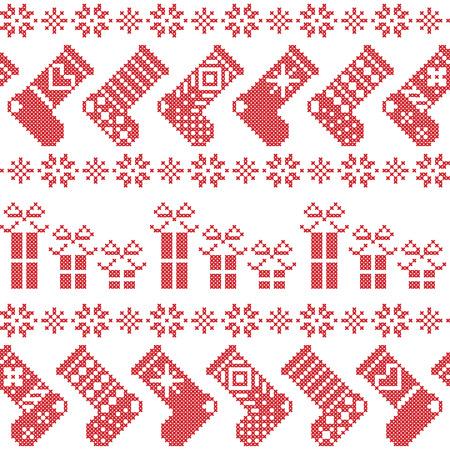 scandinavian: Scandinavian Nordic Christmas pattern
