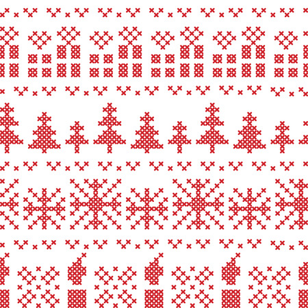Christmas Nordic cross stitch pattern