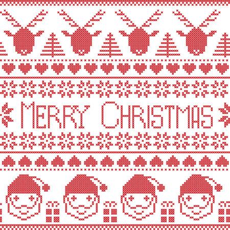 christams: Scandinavian Merry Christams pattern