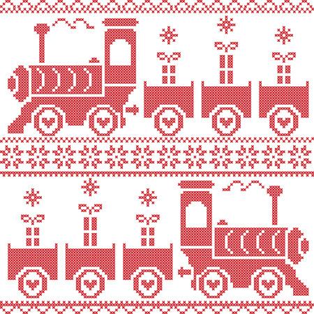 scandinavian christmas: Scandinavian Christmas Nordic Seamless Pattern