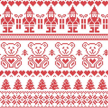 北欧風北欧クリスマスのシームレス パターン