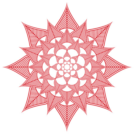 inner peace: Asian culture inspired  wedding makeup  henna tattoo decoration flower shape made out of leaves in  red and white symbolizing happiness, love and spiritual life , zen , inner peace