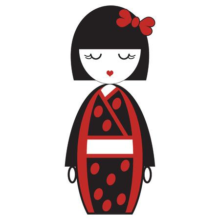 東洋日本芸者人形着物オリエンタル アクセサリーとアジアの伝統に触発さ弓毛の要素