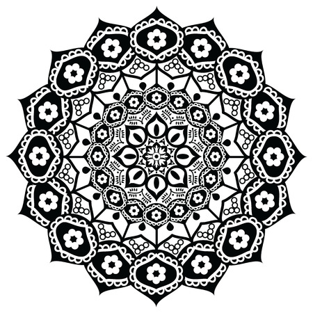 exactness: Lotus flower representing  meaning :  exactness, spiritual awakening, and purity  In Buddhism in black and white in mandala style