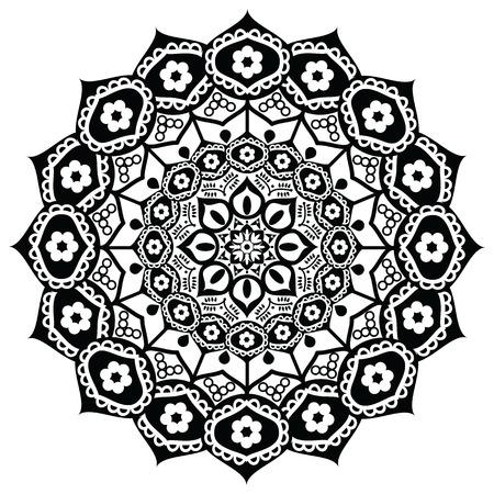 awakening: Lotus flower representing  meaning :  exactness, spiritual awakening, and purity  In Buddhism in black and white in mandala style